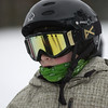 Record-Eagle/Garret Leiva<br /> Ideal snow conditions reflect in the goggles of Michael Murfield, 10, as he prepares to hit the hill at the Jr. Air Affair skills clinic and competition Saturday at Mt. Holiday.