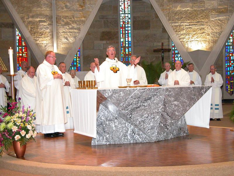 The Eucharistic celebration.