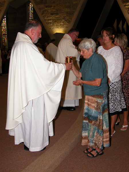 Fr. Tony served as a communion minister.