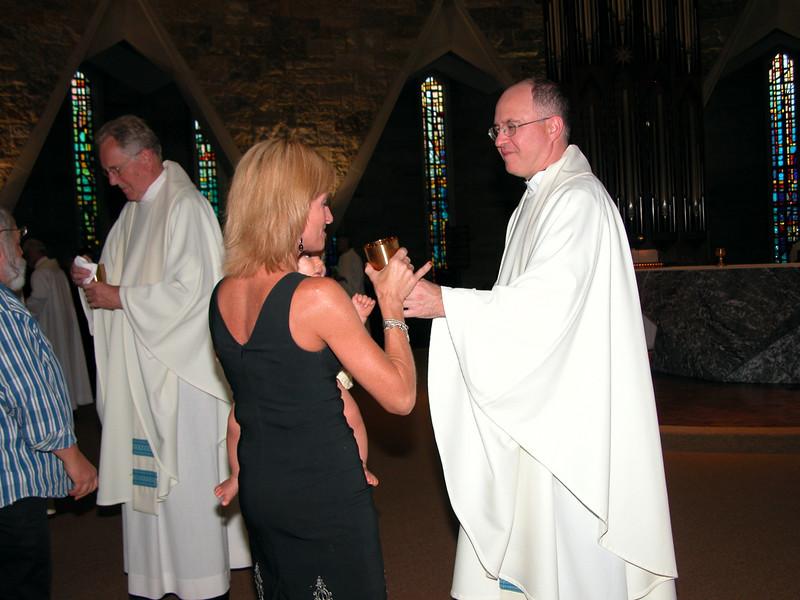 Fr. Steve during Eucharist.