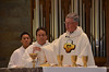 Fr. Tom Cassidy prepares for the Eucharist