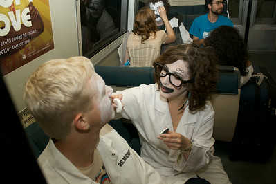 Facepainters in BART
