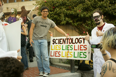 Meeting the anti-Scientology crowd