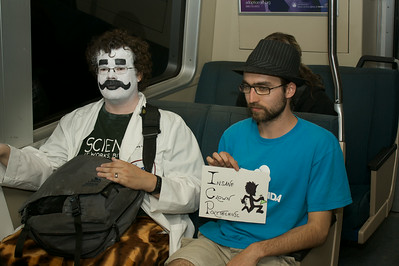 Clown scientists in BART