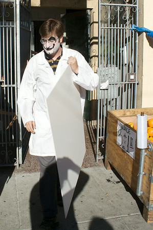 "Dr. Laszlo ""McMurder"" Fuggnutz marches out"