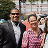 """A gathering of Julian Bond's friends and admirers meet at the reflecting pool of the MLK Center precisely at 3:00pm"""" to participate symbolically in the sharing of Julian's ashes with the sea."""