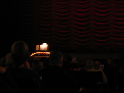 A silent movie starring Buster Keaton with live organ accompaniment (sp?)