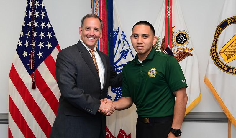 AASA Gerald B. O'Keefe hosts  hosts an award ceremony at the Pentagon