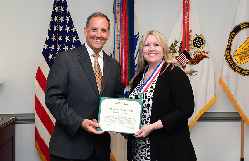 AASA Gerald B. O'Keefe hosts  hosts an award ceremony at the Pentagon