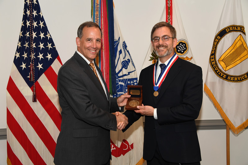 The Administrative Assistant to the Secretary of the Army, Gerald B. O'Keefe hosts an award ceremony at the Pentagon in Arlington, Va., July 3, 2018.  (U.S. Army photo by Darrell Hudson)