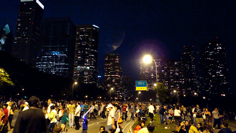 It was amazing seeing the hundreds (thousands?) of people leaving the lakefront.