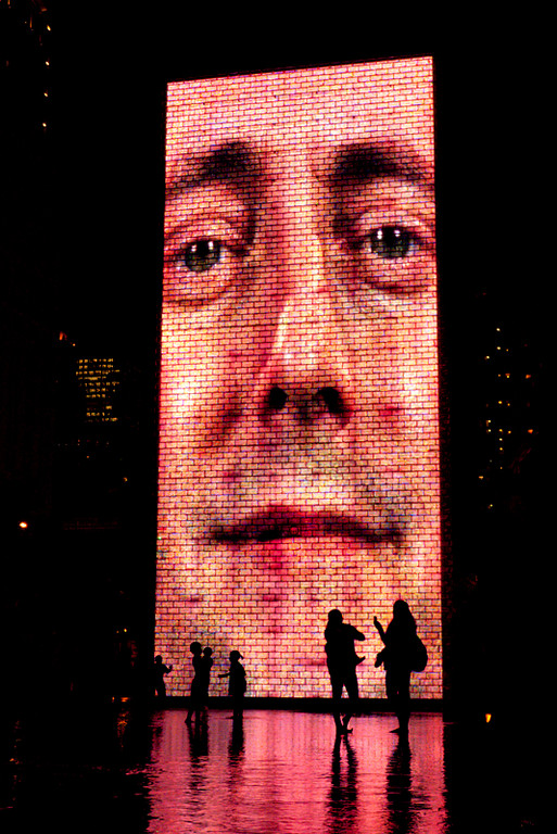 Took a quick break to take pictures at the Crown Fountains before leaving the Millennium Park/Grant Park area.