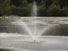 Fountain in a lake