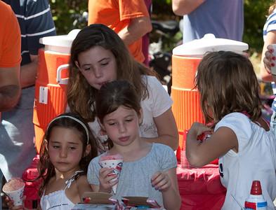 Free sno-cones were part of the fun.