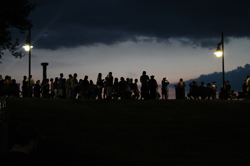 Waiting for the Fireworks to Begin.  Photo by Woody Jenkins of Capital City News