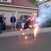 Setting off fireworks