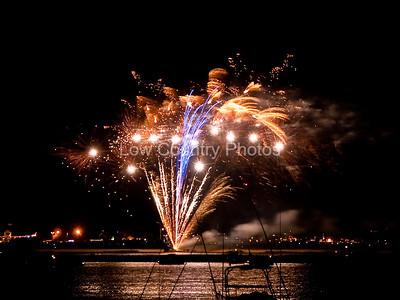 Fireworks in Garden City, SC.
