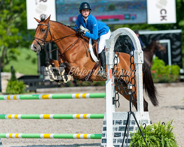 LEXINGTON, KY- 05/27/18 ANNA ERICSON riding UBRIS takes home a fourth place in the $5,000 Child/Adult 1.10m Final at the Split Rock Jumping Tour (The Lexington International CSI 2*)