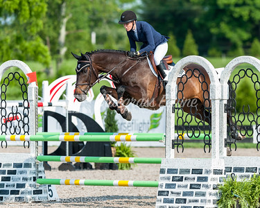 LEXINGTON, KY- 05/27/18 ANNE ARREDONDO BREKKE riding UNLIMITED T takes home a sixth place in the $5,000 Child/Adult 1.10m Final at the Split Rock Jumping Tour (The Lexington International CSI 2*)