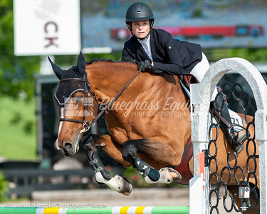 LEXINGTON, KY- 05/27/18 ELIZABETH PORATH riding WAOMI takes home a red ribbon in the $5,000 Child/Adult 1.10m Final at the Split Rock Jumping Tour (The Lexington International CSI 2*)