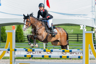 LEXINGTON, KY- 05/27/18 FRANCESCA DAMASCENO riding  SAN QUINTA SN compete in the $5,000 Child/Adult 1.10m Final at the Split Rock Jumping Tour (The Lexington International CSI 2*) to take home 7th place.
