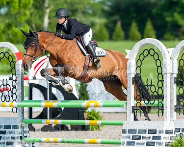 LEXINGTON, KY- 05/27/18 ELIZABETH PORATH riding WAOMI takes home a third place in the $5,000 Child/Adult 1.10m Final at the Split Rock Jumping Tour (The Lexington International CSI 2*)