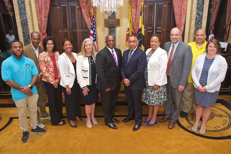 June 06, 2019 - YouthWorks Check Presentation at Baltimore City Hall