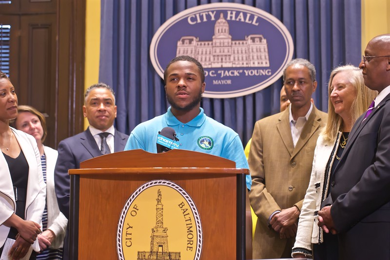 June 06, 2019 - YouthWorks Check Presentation at Baltimore City Hall