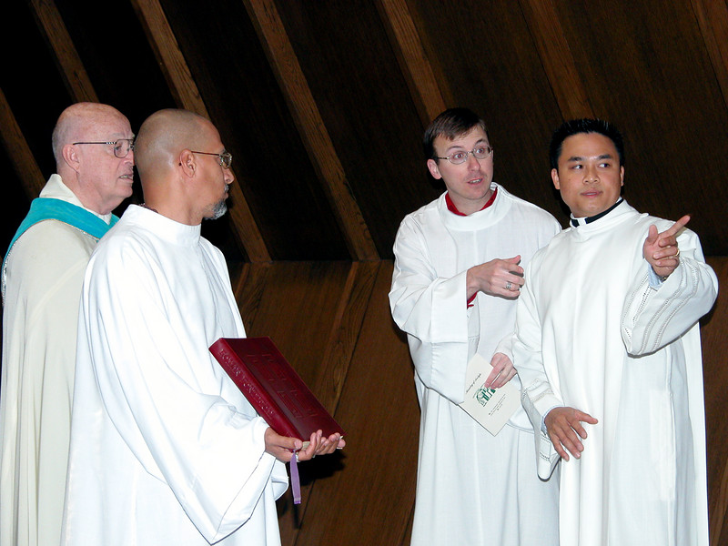 Fr. MacDonald, Clay Diaz (novice), Frater Greg Schill and Fr. Thi Pham.