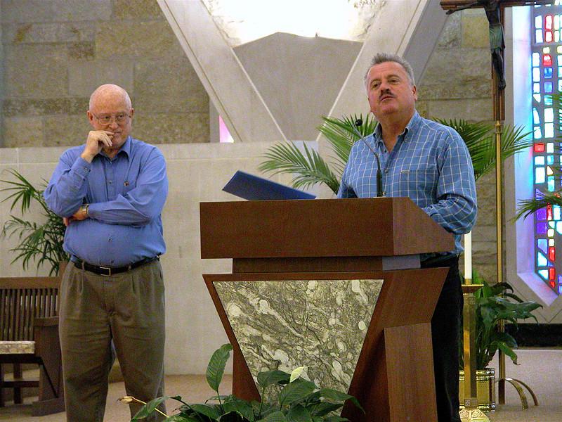 Fr. Michael Marigliano, moderator, and Fr. Richard MacDonald (left).