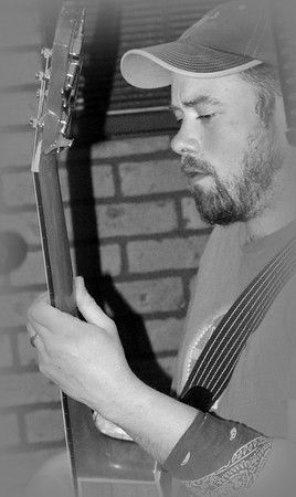 Nick's amazing bass guitar  copyrt 2015 m burgess