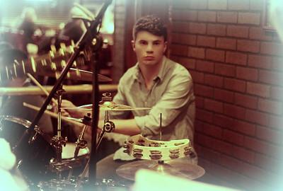 Pat on Drums Copyrt 2015 M Burgess