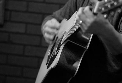 Brian on Guitar  April 2015 M Burgess