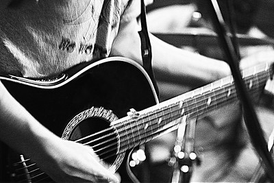 Kyle's guitar moves  copyrt 2015 m burgess