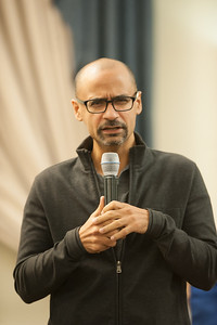 Pulitzer Prize winning author, Junot Diaz, speaks at Westfield State University, October 2016