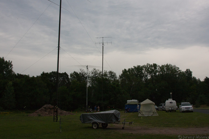 HF PSK31, Free VHF, and HF SSB Station antennas