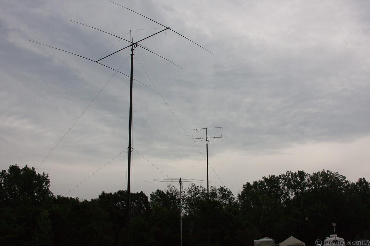 HF PSK31, Free VHF, and HF SSB Station antennas