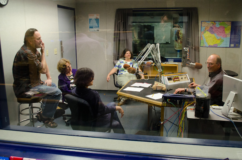 Career makeovers with Marty Nemko in Studio B. KALW Donor Event, KALW studios, 500 Mansell St., San Francisco, California.