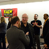 Roman Mars talks with donors. KALW Ira Glass donor  reception. Kanbar Performing Arts Center, 44 Page St., San Francisco, California.