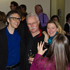 Ira Glass with donors during photo op. KALW Ira Glass donor  reception. Kanbar Performing Arts Center, 44 Page St., San Francisco, California.
