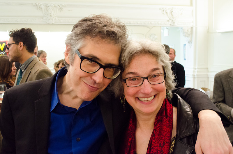 Ira Glass and donor. KALW Ira Glass donor  reception. Kanbar Performing Arts Center, 44 Page St., San Francisco, California.