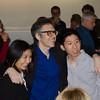 Ira Glass with KALW donors during photo op. KALW Ira Glass donor  reception. Kanbar Performing Arts Center, 44 Page St., San Francisco, California.