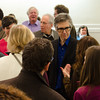 Ira Glass speaking with donors. KALW Ira Glass donor  reception. Kanbar Performing Arts Center, 44 Page St., San Francisco, California.