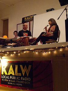 Ben Trefny interviews Nikki Silva of the Kitchen Sisters, with Seth Samuel on sound. Crosscurrents Live, KALW Mission Arts and Performance Project, MAPP, December 2011. The Polish Club, 3040-22nd St., Mission district, San Francisco, California.