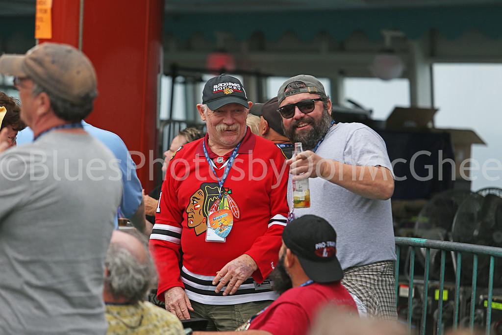 son Tony --huge Detroit Red Wings fan- w/Chicago blackhawks fan