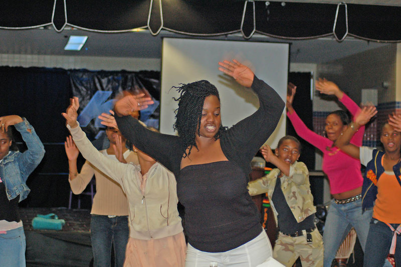 DSC_0139 Photo by Isidra Person-Lynn<br /> <br /> Crescent leads the African Dance Class at the Rites of Passage Program Photo by Isidra Person-Lynn