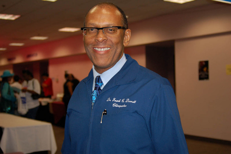 Dr. Derratt, Chiropractor lent his healing hands<br /> Photo by Isidra Person-Lynn Photo by Isidra Person-Lynn