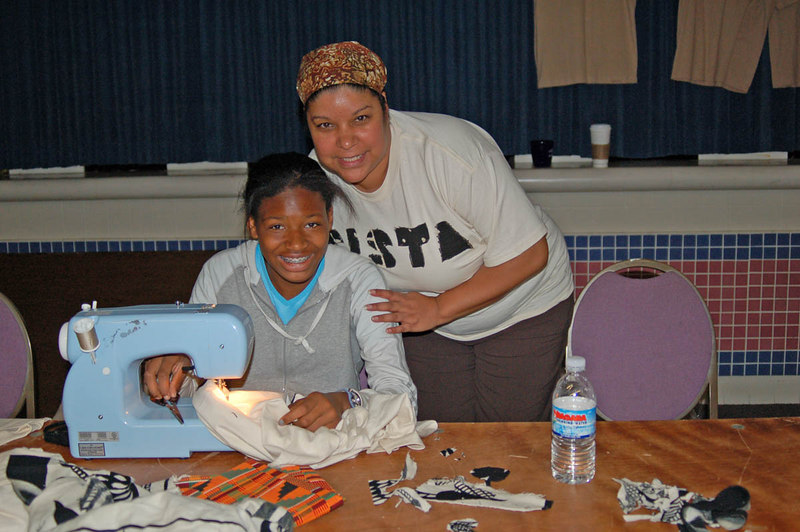This woman taught girls to decorate T-Shirts.  Photo by Isidra Person-Lynn Photo by Isidra Person-Lynn
