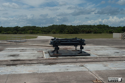 Original Launch Platform Literally the rocket/missile was placed on the ring. The tracks were for the gantry to be moved on