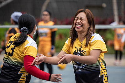 Members of the Kalinga Province Hongkong Workers Association (KaPHWA) participate in their annual volleyball tournament during the Lunar New Year 2020.